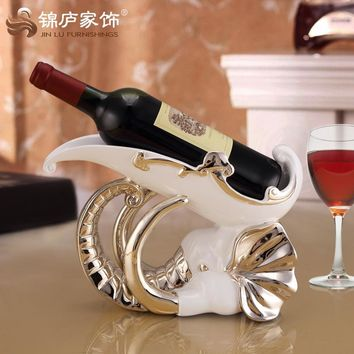 Elephant elephant nose wine rack ornaments crafts creative living room wine cabinet entrance home decoration decoration gifts