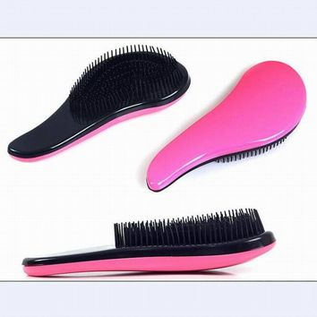Good quality detangle massage comb hairbrush anti-static plastic comb for hairdressing as hair care styling tool in salon