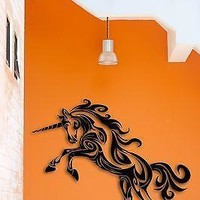 Wall Stickers Vinyl  Unicorn Mythology Fairytale The Coolest Decor   Unique Gift z1537
