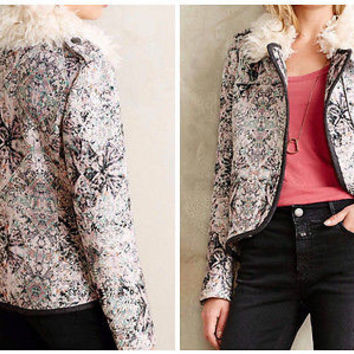 NWT Anthropologie Paisley Moto Jacket Sz 6 and 10 - By Elevenses