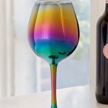 Oil Slick Wine Glass | Urban Outfitters