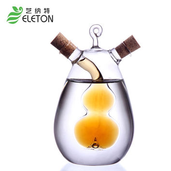 ELETON Gravy Boats high temperature resistant glass spice bottle oil bottle vinegar bottle soy sauce vinegar cruet kitchen