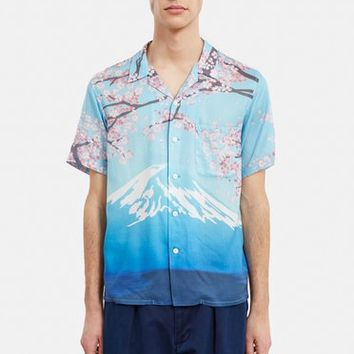 BLUE BLUE JAPAN Blooming Sakura Shirt - MEN - JUST IN - BLUE BLUE JAPAN - OPENING CEREMONY