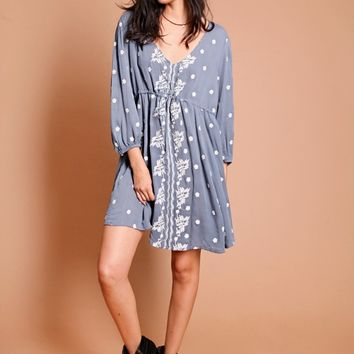 With Grace Embroidered Dress | Threadsence