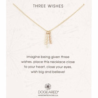 Dogeared Three Wishes Triple Tube Twist Necklace - Multiple Colors