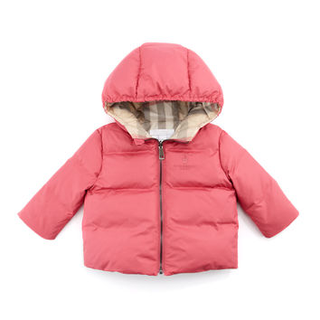 Quilted Puffer Coat, Pink, 3-18 Months - Burberry