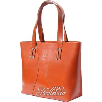 Large Tan Italian Genuine Leather Handbag/Shoulder Bag