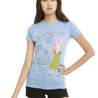 Bob's Burgers I'll See You In Hell Girls T-Shirt