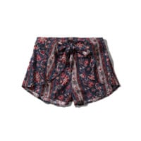 Pattern Drapey Shorts