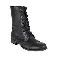 Steve Madden - TROOPA BLACK LEATHER