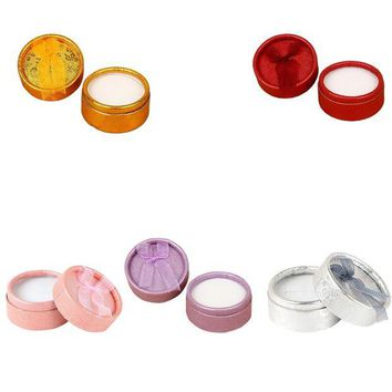ac spbest 5PCS Colorful Round Shape Small Jewellery Gift Case Boxes for Ring Earrings Jewelry Display