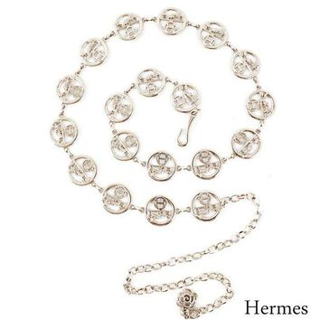 DCCKB62 Hermes Wild Small Belt Decorative Chain Belt Silver