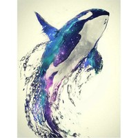 5D Diamond Painting Orca Water Color Kit