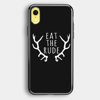 Eat The Rude Hannibal Nbc Fannibal iPhone XR Case | Casefruits