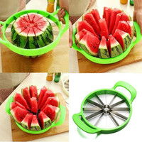 Watermelon Cutter Cantaloupe Melon Slicer Stainless Steel Fruit Divider Cooking Tools Diameter 21.5cm