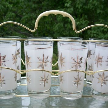 Retro / Atomic Starburst Glasses with by MargsMostlyVintage