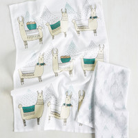Llama, I'm Coming Home Tea Towel Set | Mod Retro Vintage Kitchen | ModCloth.com