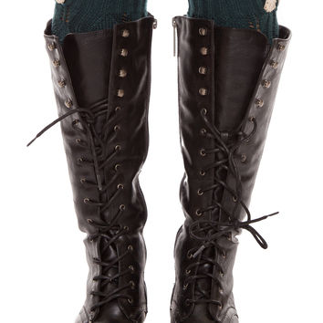 Amberly Leg Warmers - Forest Green