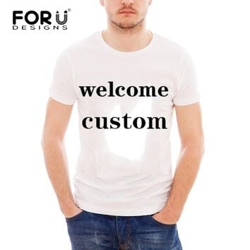 FORUDESIGNS Cutomized Men Sports T Shirt Accoding to Your Designs Custom Running Shirt Training T-Shirt Gym Clothing Sportswear