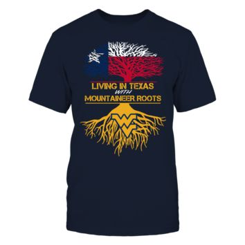 West Virginia Mountaineers - Living Roots Texas - T-Shirt - Officially Licensed Fashion Sports Apparel