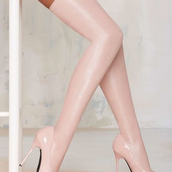 Nasty Gal Closer Thigh High Stiletto Boot