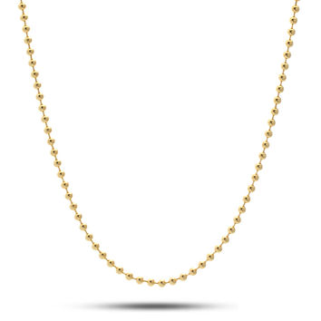 3mm King Ice 14K Gold Ball Bead Chain