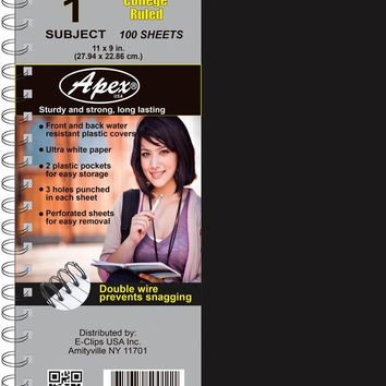 1 Subject Poly Notebook - College Ruled - CASE OF 36