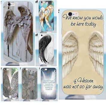 Soft Art Cover Case For iPhone 4 4S 5 5S 5C SE 6 6S 7 8 Plus X Galaxy J1 J3 J5 J7 A3 A5 2016 2017 New Supernatural Angel Wing