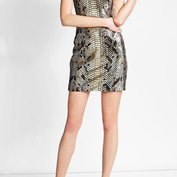Sequin Embellished Dress - Balmain | WOMEN | US STYLEBOP.COM