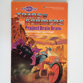 Vintage Transformers Project Brain Drain Children's Book