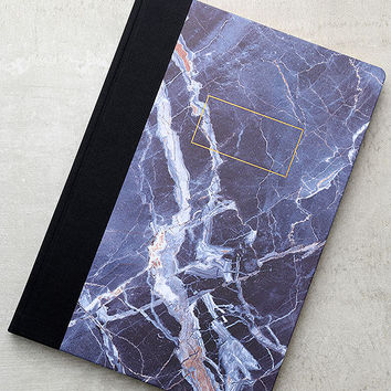 Ohh Deer Blue Marble A4 Quarterbound Notebook
