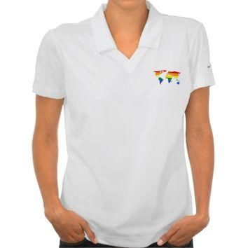 LGBT pride world map Polo Shirt