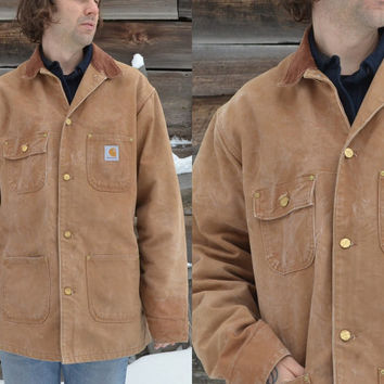 Vintage 90's Duck Chore Carhartt  Barn Coat Jacket