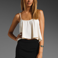 For Love & Lemons Fiesta Tank in Ivory from REVOLVEclothing.com