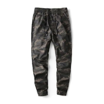Tide brand Supreme men 's casual pants Harlan pants men trousers jogging pants feet pants Camouflage