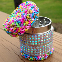 GRINDER -- MINIS Collection -- Rainbow Sprinkle Birthday Cake