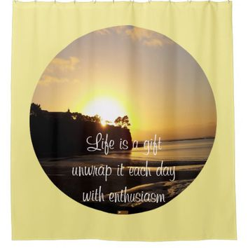 Gift Quote by Kat Worth Shower Curtain