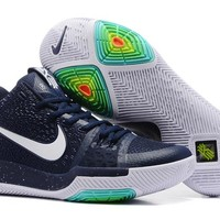 HCXX Men's Nike Zoom Kyrie 3 Basketball Shoes Drak Blue 40-46