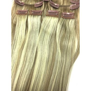 """Clip on Human Hair in Straight 14"""""""