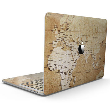 The Vintage Mother Russia Map Pattern - MacBook Pro with Touch Bar Skin Kit