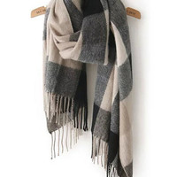 Scarf Black Grey Plaid Fall Winter Fashion Warm Comfy Trendy Scarves