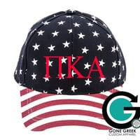 SALE!! CUSTOM Greek (Sorority or Fraternity) Flag Print Hat