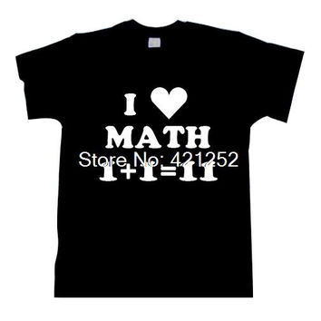 Friend Gift MATH I Love Math T-shirt Mens T Shirt Funny TShirt Teacher Gift Geek Math Nerd Cool Shirt Math Teacher