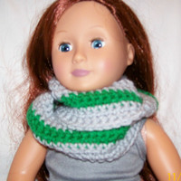 Infinity Scarf, 18 Inch Doll, Crochet, Handmade, Doll Accessories, Crochet Doll Clothes, Winter Scarf, Doll Scarf, Circle Scarf, Loop Scarf