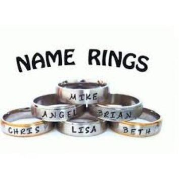 Name Ring - You Personalize - Cheerleading, Gymnastic, Sports, Valentine, Animal