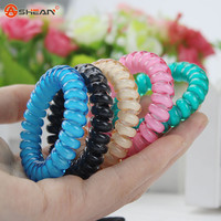Fashion Cute Candy Color Hair Jewelry Headbands Telephone Line Hair Rope for Women Hair Band