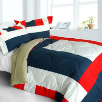 Loving Lorraine Quilted Patchwork Down Alternative Comforter Set in King Size