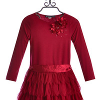 Biscotti Fancy Holiday Dress in Red