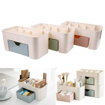 Combinable Plastic Makeup Storage Organizer Cosmetic Jewelry Drawer Desktop Holder Sundries Container Boxes Home Organization