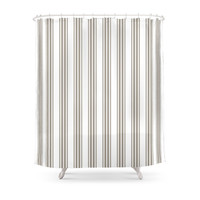 Society6 Linen Stripe Shower Curtain